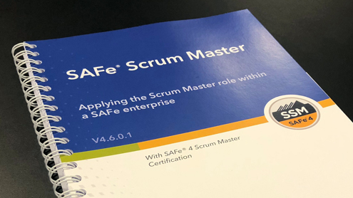 SAFe Scrum Master course training material.