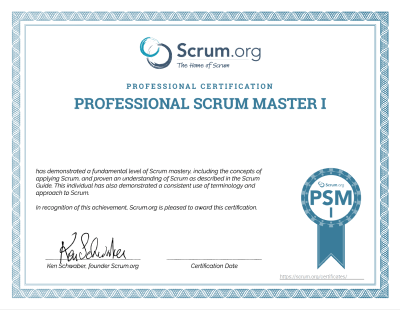PSM Certificate