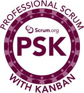 Professional Scrum With Kanban PSK Badge
