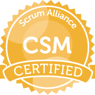 Certified Scrum Master Badge