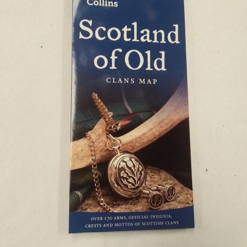 Touring Map of Scotland - Edinburgh Castle Scottish Imports