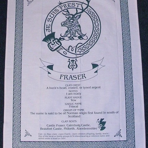 Scottish Clan Crest Tea Towel