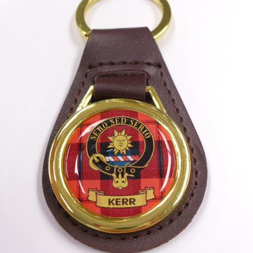 Clan Crest Leather Key Fobs