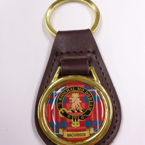 Clan Crest Leather Key Fobs Mac Names