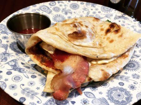 Bacon and Egg Naan Roll - Dishoom