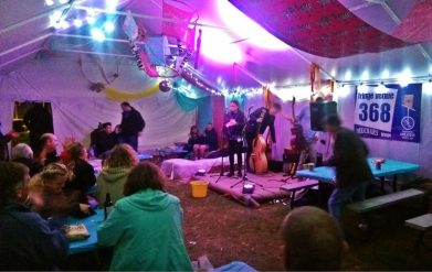 Band of Jays at Fringe Venue 368, before 403 and the arrival of the Giant Tipis!
