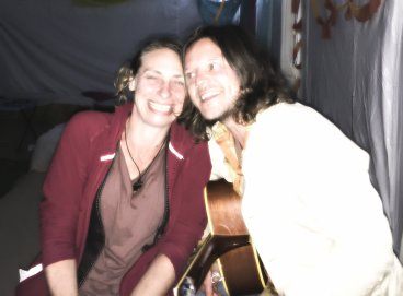 Zeph and Lucy jamming at Venue 368