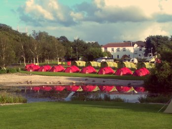 Lakeside pre-pitched Tents