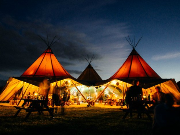 Giant Tipis at Edinburgh Festival Camping