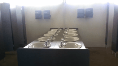 Toilets and hand basins
