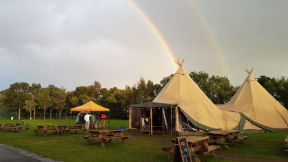 Tipi Cafe/Bar at Edinburgh Festival Camping