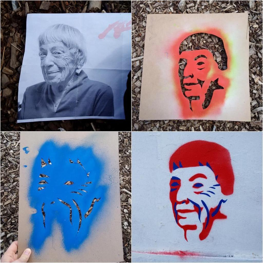 Ursula le Guin Stencil art