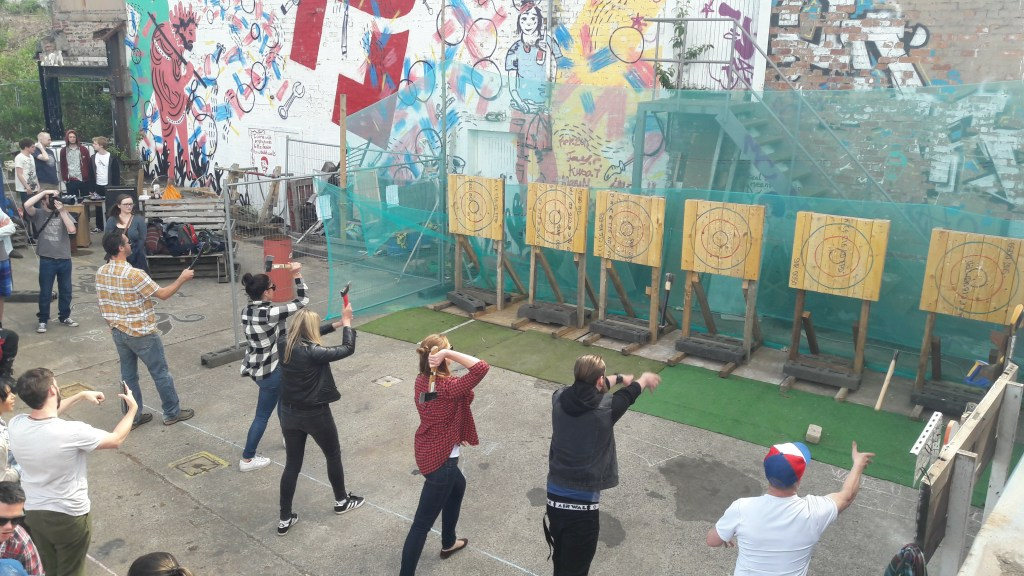 Urban Axe Throwing League at the Forge