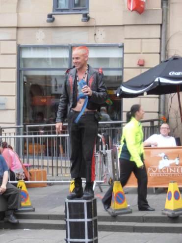 Busking at the Edinburgh Fringe