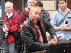 Busker at the Edinburgh Fringe