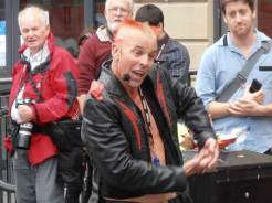 Busker at the Edinburgh Fringe