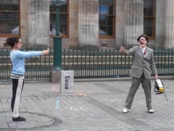 Chainsaw act at the Edinburgh Fringe