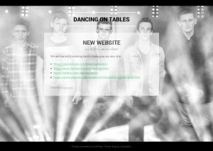Dancing on Tables Website
