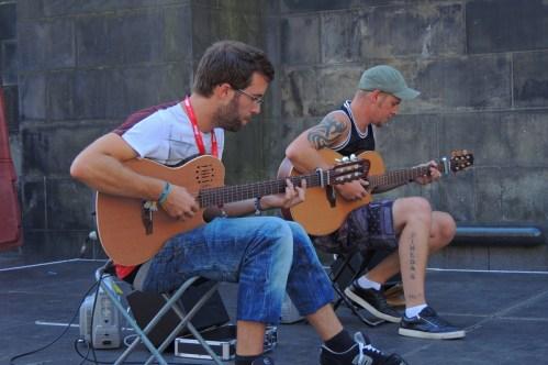 The Showhawk Duo at Edinburgh Fringe Photos by Val Saville