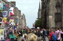 Edinburgh Fringe Street Crowd