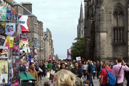 Edinburgh Fringe Street Crowd