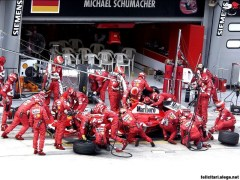 The Ferrari team during a pit stop - soon to be consigned to history?