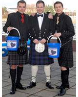 STV presenters support the Kilts for Kids Campagin