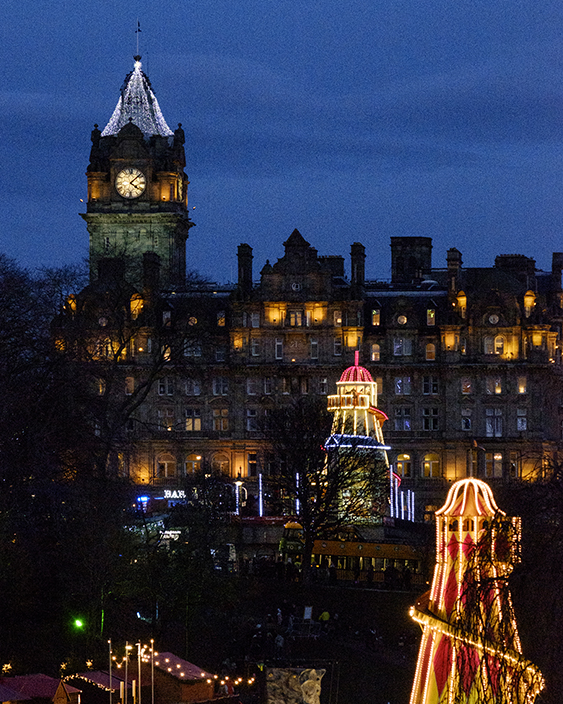 Edinburgh Christmas lights Princes Street Gardens
