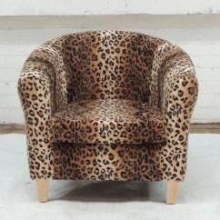 Animal Print Accent Chair Leather Chesterfield Edinburgh Upholsterer