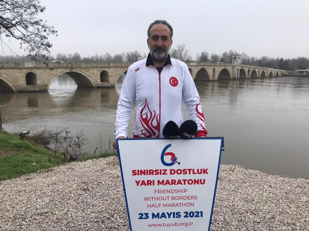 Edirne'de pandemi nedeniyle ertelenen maraton tedbirli koşulacak