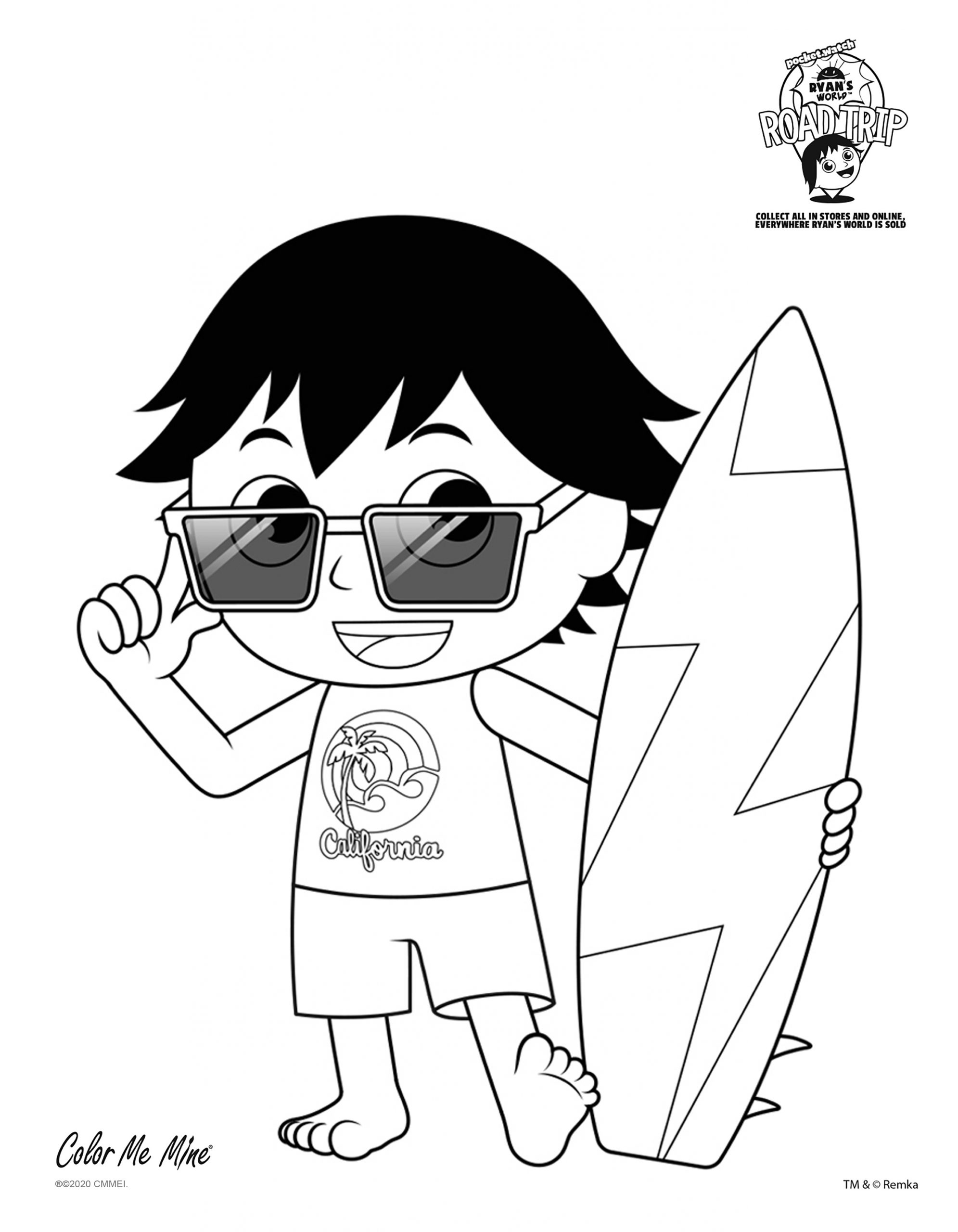 Ryan Coloring Pages : coloring, pages, Ryan's, World, Coloring, Edison