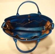 Inside of kangaroo leather bag