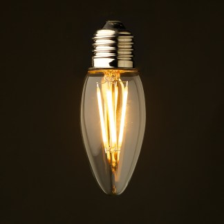 3 Watt Dimmable Filament LED E26 Candle bulb