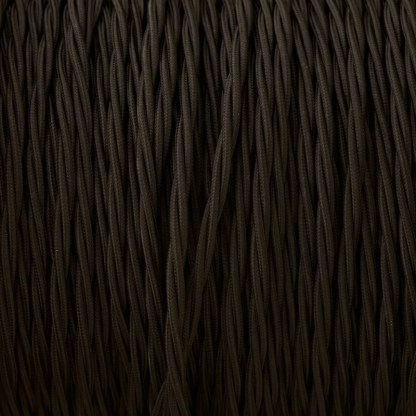 Cloth covered braided 3 core lighting Flex 120V black