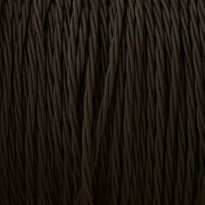 Cloth covered braided 3 core lighting Flex 120V black