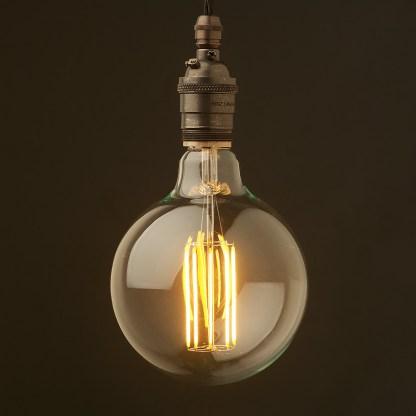 Edison style light bulb and E26 bronze pendant