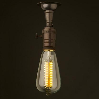 Bronze Switched Batten Holder Edison E26