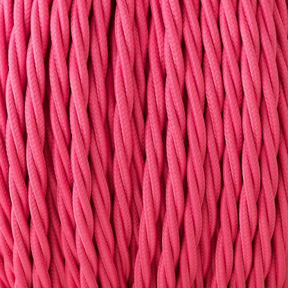 Cloth coveCloth covered braided 3 core lighting Flex 120V hot pinkred braided 3 core lighting Flex 120V