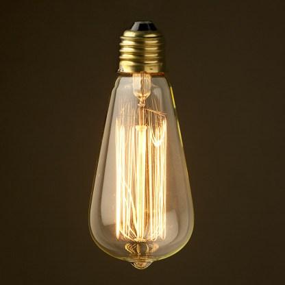 Vintage Edison Squirrel Cage Teardrop filament bulb E26 150mm