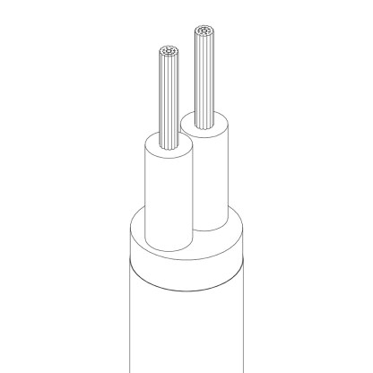 2 Core pulley cable