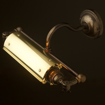 Vintage Bronze Tube Caged Picture Light