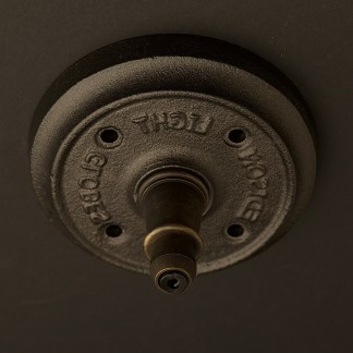 Bronze cord grip ceiling plate