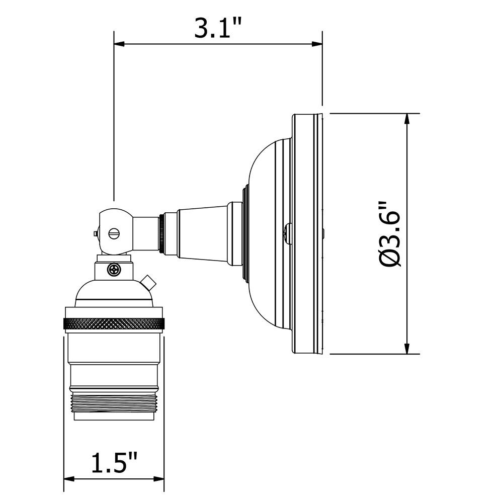 brass knuckles diagram directv dvr wiring knuckle wall mount e26 socket nickel