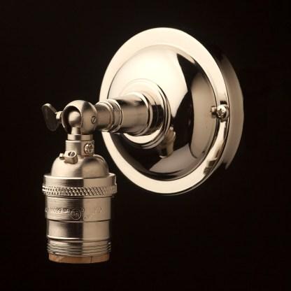 Nickel Knuckle Wall mount E26 socket
