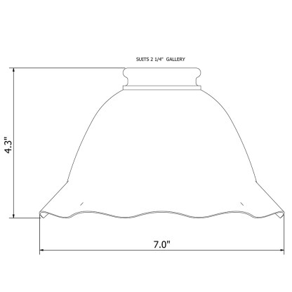 holophane fluted dome light shade