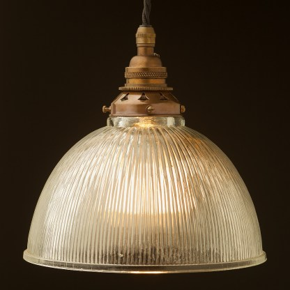 Glass dome ribbed Pendant