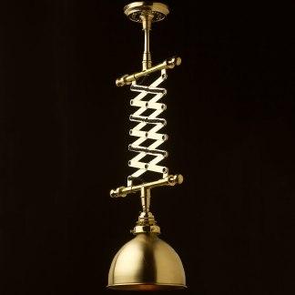 Brass Adjustable Scissor Pendant
