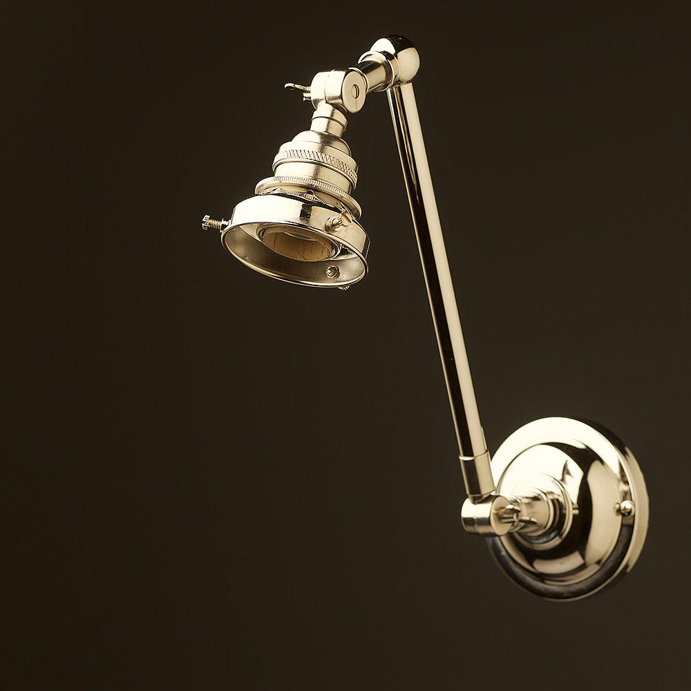 Leighton Wall Adjustable Sconce Remodelista: Nickel Adjustable Arm Wall Sconce Shade
