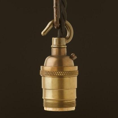 Antique Brass E26 Chain Hook Pendant Socket
