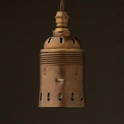 GES Antiqued Brass pendant socket